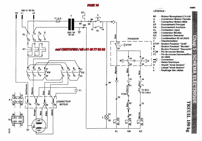 schema moteur electrique monophase